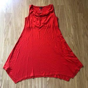 NWT Eileen Fisher cowl neck a-line jersey dress M